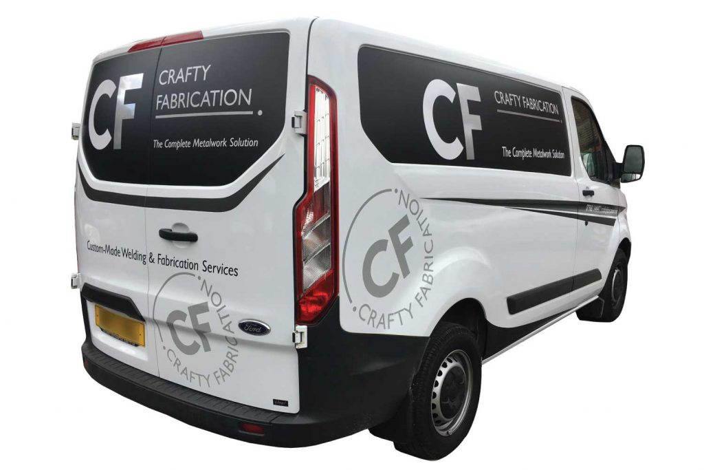 Crafty Fabrication Van Back Graphics