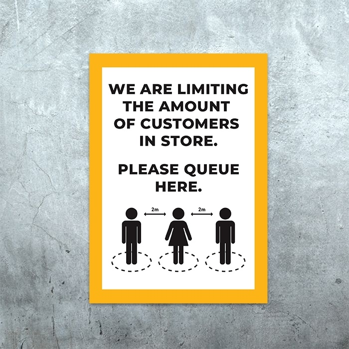 Queue Here Poster