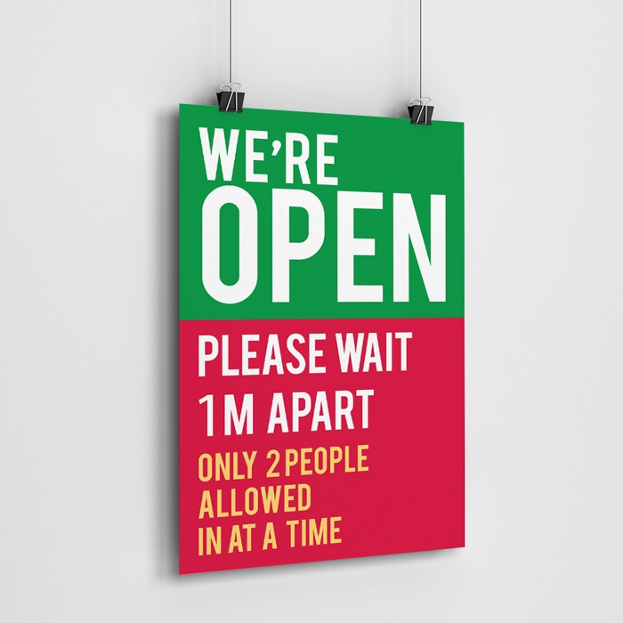 We Are Open Poster